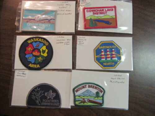 Canada Boy Scout Patches Lot of 12   c5