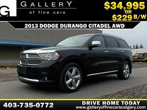 2013 Dodge Durango Citadel $229 bi-weekly APPLY NOW DRIVE NOW