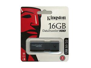 Kingston 16 GB DataTraveler 100 G3 USB 3.0 Flash Drive