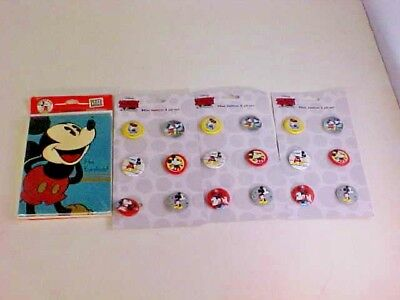Mickey Mouse Party Invitations 8 and Party Favors 18 Mini Buttons NEW - Mini Mouse Invites