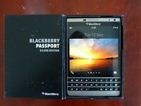 BLACKBERRY PASSPORT SILVER EDITION - BRAND NEW - UNLOCKED - BOXED - WITH RECEIPT
