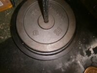 2 x 20kg 1 inch weights - LARGE HEAVY WEIGHTS not matching 40KG