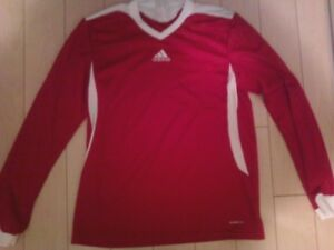 New Adidas red long-sleeve athletic top