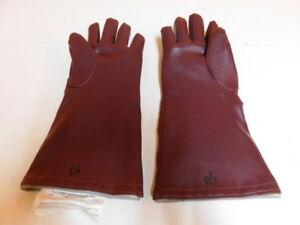 Lead Burgandy Medical Gloves