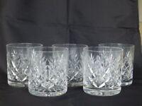Royal Doulton Whiskey Glasses X 5