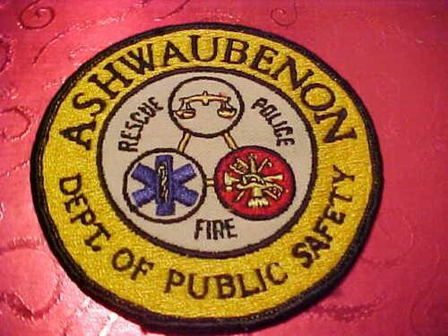 ASHWAUBENON WISCONSIN POLICE PATCH SHOULDER SIZE UNUSED  4 X 4 IN