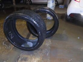 "22"" TYRES x2 - 225x35x22 £55 FOR BOTH"