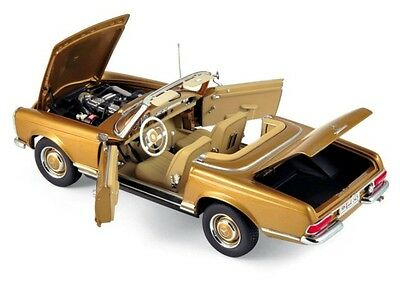 NOREV 1963 Mercedes Benz 230 SL Gold Metallic LE of 1000pcs 1:18 183503*New