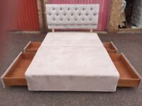 Double Divan Bed, Headboard Can Deliver