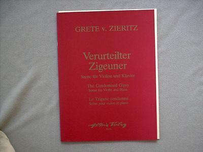 Violine + Klavier Noten : ZIERITZ Verurteilter Zigeuner (SZENE - Stimmungsbild)