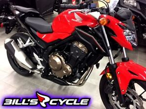 2017 HONDA On Road CB 500 FAH   CB with Abs Red