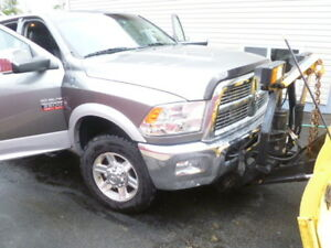 2012 Ram 2500 Laramie 6.7 Diesel HD with 8 ft. Plow & BullyDog..