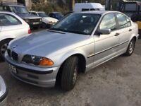 BMW 318 automatic, starts and drives well, MOT until January 2018, black leather interior, car locat