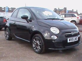 FIAT 500S 3 DR BLACK 24212 MILES FULL SERVICE HISTORY PREVIOUS OWNER KNOWN TO US