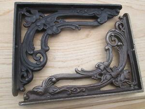 Cast-Iron-Ornate-Fancy-Victorian-Shelf-Support-Book-Sink-Toilet-Cistern-Bracket