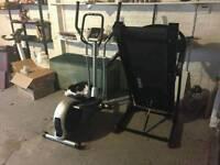 Reebok Z7 treadmill and Marcy cross trainer