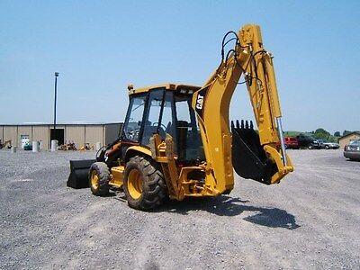 2 NEW Caterpillar CAT Decal Backhoe Arm Logo Sticker 416 420 426 436 442 B C D E