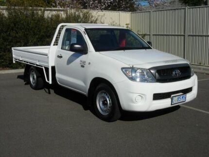 2009 Toyota Hilux TGN16R 08 Upgrade Workmate White 5 Speed Manual Cab Chassis Devonport Devonport Area Preview