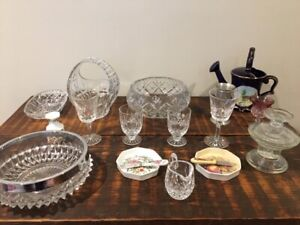 YARD SALE!!  Crystal, antique glassware & household items.