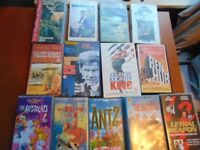 13 Miscellaneous VHS Tapes Childrens and Adult