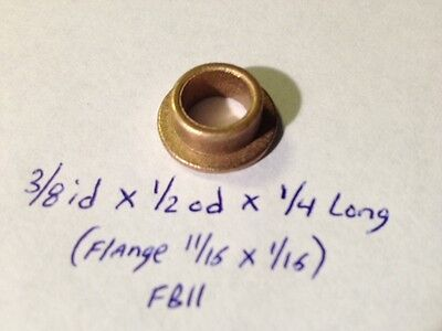 Oilite Flange Bushing Bronze 38 Id X 12 Odx14 Brass Bush Shim Spacer Bearing