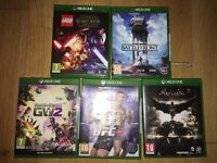 XBOX ONE BUNDLE JOBLOT - EXCELLENT CONDITION £80 THE LOT COLLECTION L15 ONLY