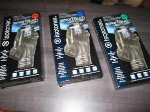 Leather Gloves, ISOTONER SmarTouch, Med., Large & XL, BNIB