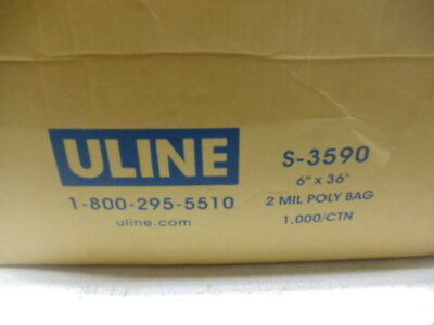 900 New ULINE Clear Poly Bags, S-3590, 6