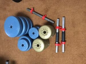 Weights and Dumbell bars