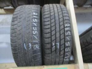 215/55R18 2 ONLY MATCHING UNIROYAL A/S TIRES
