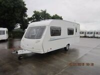 2008 STERLING EUROPA 540 6 BERTH FIXED REAR BUNKS REAR GARAGE DOOR CARAVAN ANDERSON CARAVAN SALES