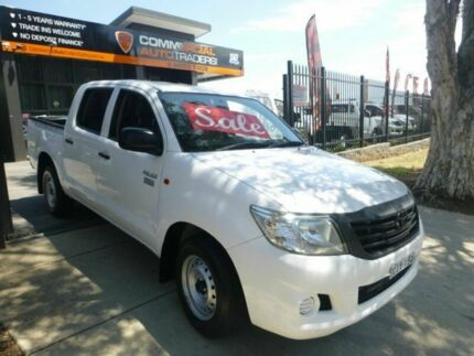2012 Toyota Hilux TGN16R MY12 Workmate Double Cab White 5 Speed Manual Utility