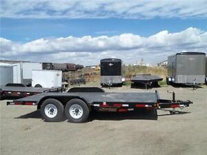 REDUCED PRICED 14K 7X18 EQUIPMENT TRAILER $4800.00 NOW