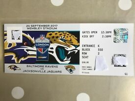 NFL Wembley - Jags vs Ravens - 2 or 4 tickets - Face Value - on halfway line at front of upper tier