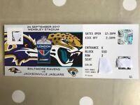 NFL Wembley - Jags vs Ravens - 2 or 4 tickets - Face Value - on halfway line at front of upper tier