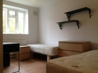 Twin room in Clapham South available now! £210pw all bills included and free WiFi