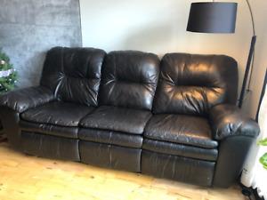 Ensemble de sofa inclinable