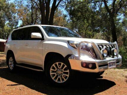 2015 Toyota Landcruiser Prado GDJ150R VX White 6 Speed Sports Automatic Wagon Kalamunda Kalamunda Area Preview