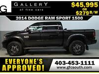 2014 DODGE RAM SPORT LIFTED *EVERYONE APPROVED* $0 DOWN $279/BW!