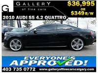2010 Audi S5 4.2 COUPE AWD $299 bi-weekly APPLY NOW DRIVE NOW