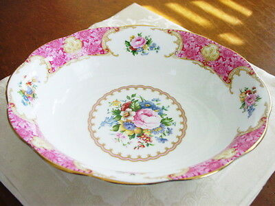 Royal Albert LADY CARLYLE Oval Vegetable Serving Bowl, New!