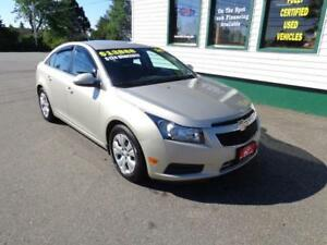 2014 Chevrolet Cruze 1LT for only $119 bi-weekly all in!