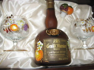 EMPTY GRAND MARNIER 150 year old Boxed Set