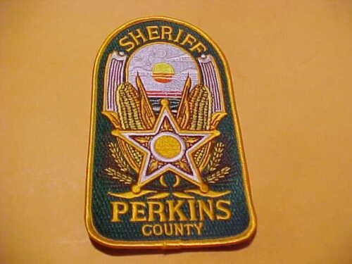 PERKINS COUNTY NEBRASKA POLICE PATCH SHOULDER SIZE UNUSED