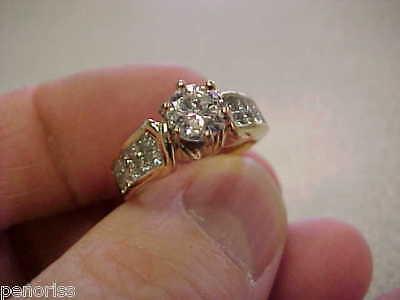 BEAUTIFUL DIAMOND RING WEDDING TYPE   FREE USA SHIPPING