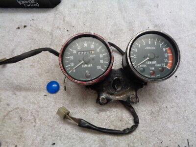 <em>YAMAHA</em> 100MPH MOTORCYCLE SPEEDO SPEEOMETER CLOCK SET DASH ASSY