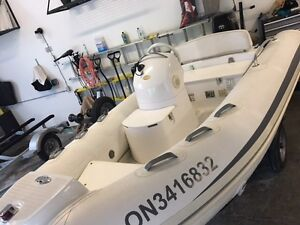 Grand 380 dinghy centre console with 40 hp