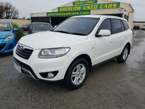 2011 Hyundai Santa Fe CM MY10 SLX CRDi (4x4) White 6 Speed Automatic Wagon Officer Cardinia Area Preview