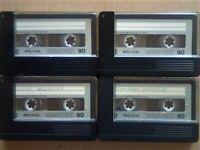 JL £8 & FREE P&P. 4x MEMOREX MRX2 90 CASSETTE TAPES. 1974-1975. BATCH 4/4. JOB LOT OR SOLO SALES.