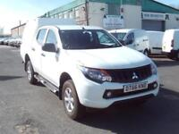 Mitsubishi L200 4Life 4x4 Double Cab 151ps Air Con DIESEL MANUAL WHITE (2017)